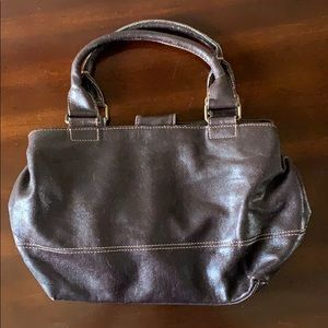 Small T.H. leather purse